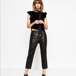 ZARA Faux Leather Trousers NWOT